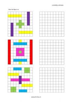 This worksheet and much more in the category of spatial orientation - post-coloring . Fun Worksheets, Kindergarten Worksheets, Math Resources, Preschool Activities, Handwriting Games, Visual Perceptual Activities, Graph Paper Drawings, Math Patterns, Vision Therapy