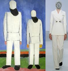 Kazimir Malevich, Two Male Figures, 1932 and Maison Martin Margiela Artisanal A/W 2012
