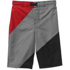 Op Boys' Colorblock Swim Shorts, Size: 14/16, Black