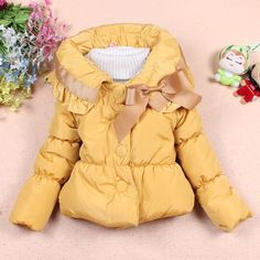 New Arrival kids Winter Coat Children Girls Outerwear Hoody Cartoon Girl Warm Jacket Bow Cotton Down Parka Clothes F30