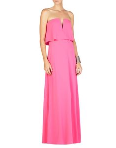 71165f6b574 BCBGMAXAZRIA - Strapless Popover Gown