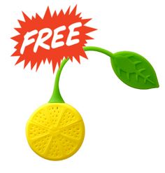 GET YOURS BEFORE WE RUN OUT!!! a FREE Lemon Shape High quality Silicone Tea strainer valued at $5US with every purchase @ WWW.DETOXMETEA.COM
