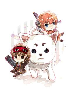Kagura Sougo and Sadaharu | Gintama | ♤ #anime ♤ Chibi