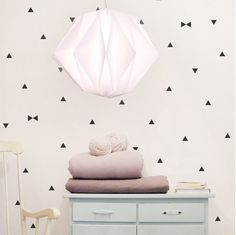 Black triangle wall decals triangle wall stickers by tayostudio