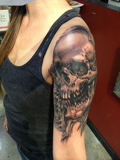 Skull Tattoos 57 - 80 Frightening and Meaningful Skull Tattoos
