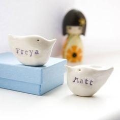 personalised wedding gift birds by badgers badgers | notonthehighstreet.com