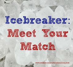 Icebreaker game perfect for your next women's ministry event, small group, or Bible study. #icebreaker #icebreakergame #womensministry