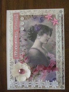 Vintage kaartje ( zelfgemaakt)