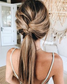 simple braid hairstyle idea for this summer