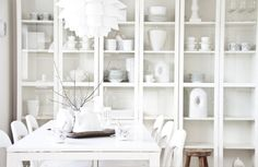Large cabinet to display the porcelain instead of hiding it