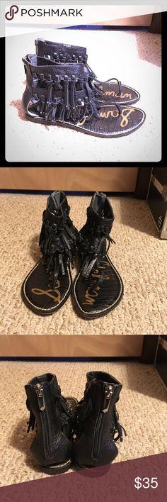 Sam Edelman Fringe Sandals Super Cute Fringe Sam Edelman Gladiator Leather Upper Sandals  Make an Offer! Sam Edelman Shoes Sandals