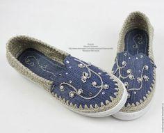 Обувь ручной работы. Льняная обувь