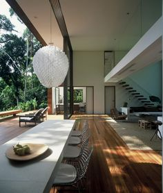 House in Iporanga by Arthur Casas; Great eating/entertaining area