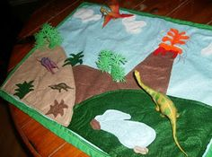 Support Blog for Moms of BOYS!: Dino Felt Play Mat