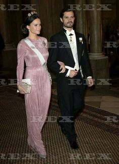 The King's dinner for the Nobel Laureates, Royal Palace, Stockholm - 11 Dec 2016  Princess Sofia, Prince Carl Philip  11 Dec 2016