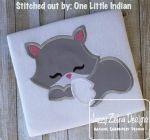 Sleeping Fox Applique Design