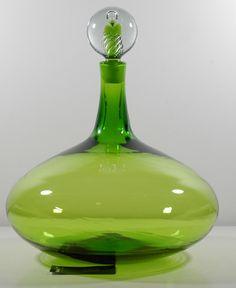 Antique Glassware, Antique Bottles, My Glass, Glass Art, Salvaged Decor, Magic Bottles, Blenko Glass, Colored Vases, Art N Craft