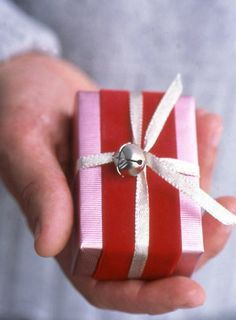 Christmas wrap inspiration - think jingle bells will be added to gifts this year!