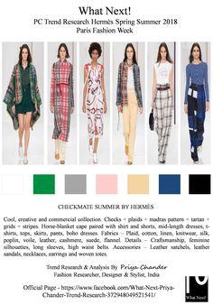#Hermès #Hermèsfashion #ss18 #HermèsSS18 #fashionweeknews #fashionresearch #priyachander #whatnextpctrendresearch #RTW #readytowear #fashionindustry #checks #plaid #tartan #madraspattern #Horseblanketcape #NadègeVanheeCybulski #Hèrmescolors #dresses #leathersandals #satchels #fashiondesigner #PFWSS18 #Timblanks #checkandmate #checkmate