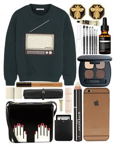 """""""We don't believe what's on TV"""" by moytura ❤ liked on Polyvore featuring Givenchy, Bare Escentuals, Carven, Yves Saint Laurent, Elie Saab, Lulu Guinness, Aesop, Lord & Berry, Smashbox and Rochas"""