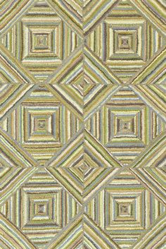 A great choice for bath or bed rooms. Based on traditional patterns; but also perfect for contemporary geometrics.  Kaledo Green Cotton Micro Hooked Rug