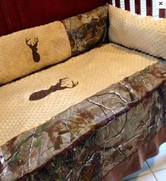 "This is our little trophy hunter collection! We use all authentic camo, These were made in light of the hard to find ""real"" hunters approved baby bedding that w"
