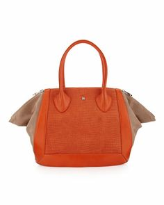 Prado Medium Tote Bag, Orange by Pour la Victoire at Last Call by Neiman Marcus.  I want this on my arm now.z