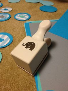 Elephant Birthday Party! Martha Stewart craft punch