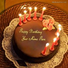 Write Your Name On Apple Birthday Cake Greetings OnlineOnline