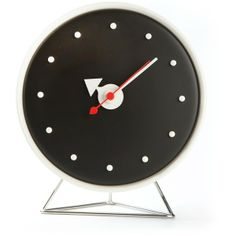 VITRA monochrome clock found on Polyvore