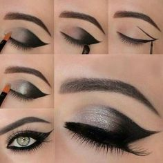 Eye Makeup Tips.Smokey Eye Makeup Tips - For a Catchy and Impressive Look Makeup Hacks, Makeup Tips, Beauty Makeup, Makeup Tutorials, Makeup Ideas, Eyeshadow Tutorials, Makeup Trends, Eyeshadow Ideas, Beauty Tutorials