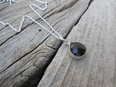Faceted onyx necklace handmade in sterling silver by Billyrebs on Etsy