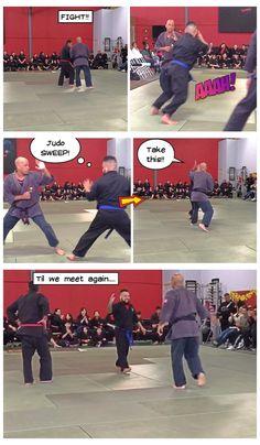 "Belt promotion sparring against ""The Black Panther"""