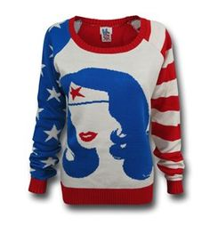 Wonder Woman Old Glory Sweater