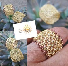 Crochet Jewellery, Wire Crochet, Wire Rings, Wire Crafts, Hobby, Diy Jewelry, Place Card Holders, Jewels, Beads