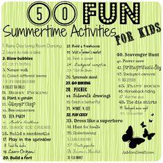 50 fun summer activities for kids #summer #family #kids #activities
