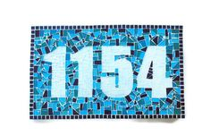 Mosaic Address Plaque House Number Sign
