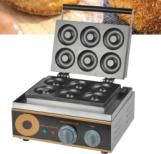 Electric 6 Holes Dounts Cookie Making Machine 1.5kw Donut Maker Machine Plate Round Cake Machine #Affiliate