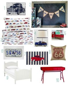 Check out the Sweet Thymes Burlap Truck Banner featured on Rustic Baby Chic's pickup truck boys Bedroom Themes, Kids Bedroom, Bedroom Designs, Car Themed Bedrooms, Baby Boy Rooms, Baby Boy Nurseries, Baby Boys, Vintage Car Bedroom, Vintage Truck Nursery