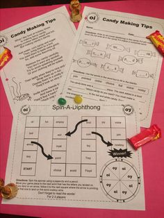 For 1st-3rd grades, Poems, worksheets and game boards, a fun way to practice vowel diphthongs.