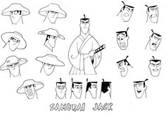 Many Faces of Samurai Jack by Nes44Nes on deviantART
