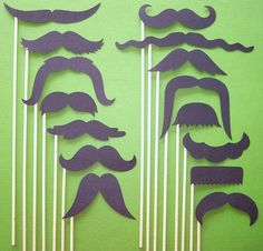Mustaches On a Stick - Photo Booth Props