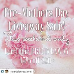 Check out Felicia's shop and terrific sale on her beautiful goodies!! Tell her Shellie sent you! #myartsiecreations #MARTCPRTeamSD #Repost @myartsiecreations with @repostapp.  Happy Saturday ladies. While I gather a few goodies for an upcoming Mothers Day giveaway that I will be having take advantage of the 45% off sale going on this weekend! Use code PREGIVEAWAY. Sale ends Sunday so get it while you can. Make sure to check out the New Release section while you're at it. #happyplanning…