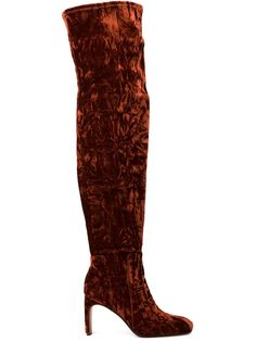 10 Crosby Derek Lam | Red Thigh-High Suede and Leather Boots | Lyst
