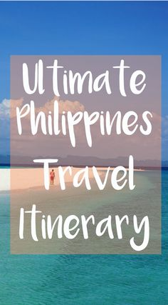 Headed to the Philippines? Don't miss this ultimate Philippines travel itinerary to hit up everything this gorgeous country has to offer! From beautiful beaches to lush jungle and exotic wildlife, click to see our favorite spots!