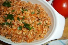 Orzo, Savoury Dishes, Fried Rice, Ricotta, Italian Recipes, Paella, Side Dishes, Yummy Food, Snacks