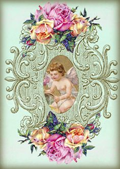 FAIRY DUST digitale Collage blad Instant Download door GalleryCat