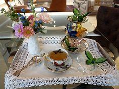 A bandeja do chá .. cheia de borboletas!
