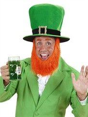 Skt. Patricks Day hat med skæg