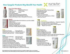 Products of Xyngular  For more great information on how to lose weight and/or get healthy, message me on facebook www.facebook.com//katie'lawson'osterberg or email me at lawson-k@hotmail.com